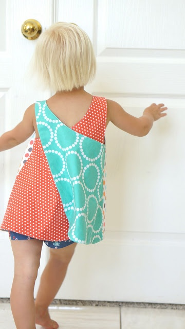 Roly-Poly Pinafore // pattern by Imagine Gnats // sewn by CailaMade