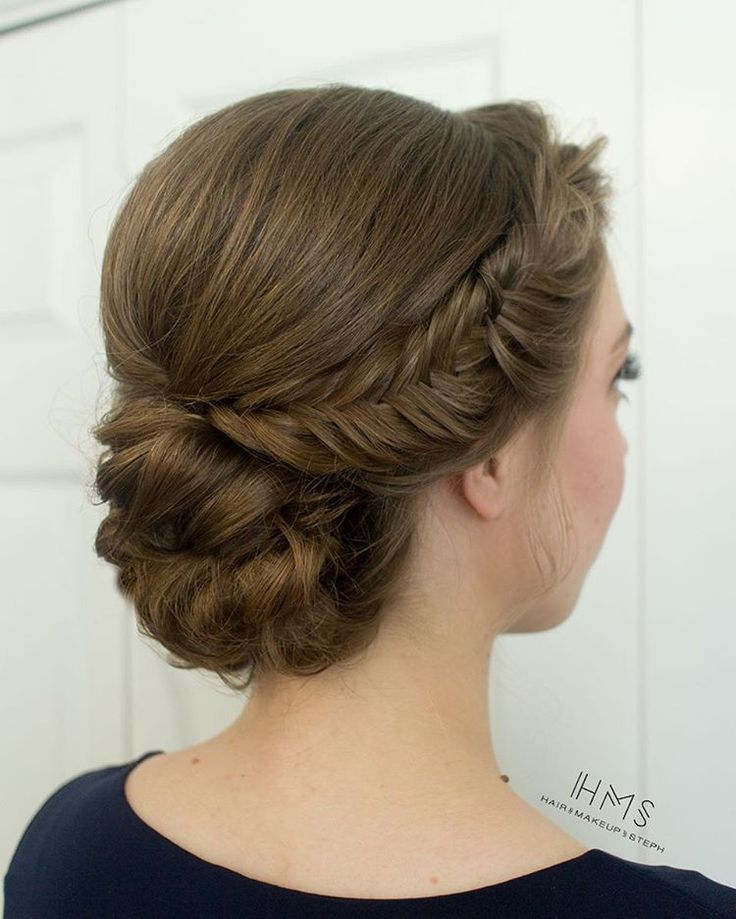 "5,195 Likes, 24 Comments - Hair and Makeup by Steph (@hairandmakeupbysteph) on Instagram: ""Simple and clean bridesmaid chignon. #hairandmakeupbysteph"""