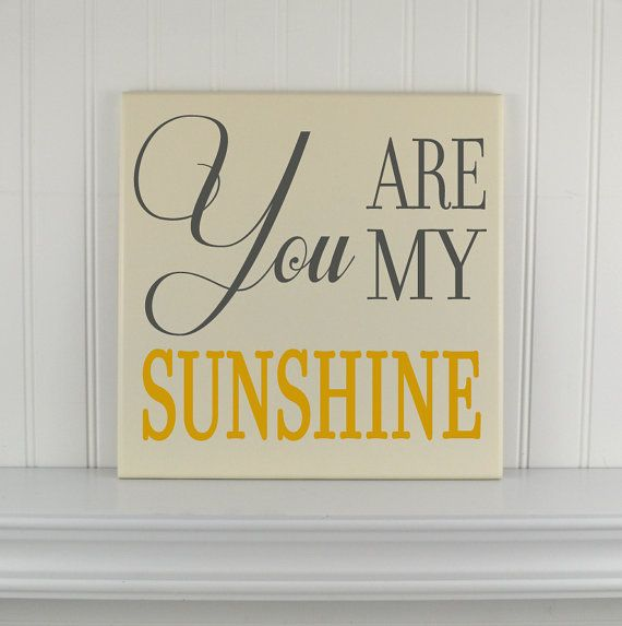 Items Similar To You Are My Sunshine Sign Personalized Baby Gift Nursery Decor Art Wood Quote Wooden Plaque Nursery Wall Art Signs Sayings Wall Hanging