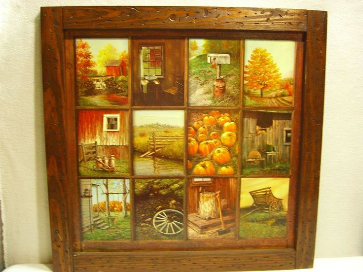 Vintage Homco Home Interior B Mitchell Window Pane Picture For The Home Pinterest Window
