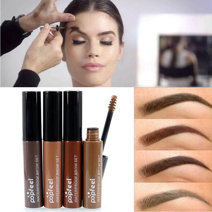 Professionelle Augen Farbton Make-Up Kosmetik Lang Anhaltende Natürliche Schwarz Braun Farbton Farbstoff Farbe Augenbrauen Mascara Farbe Henna Creme Kit