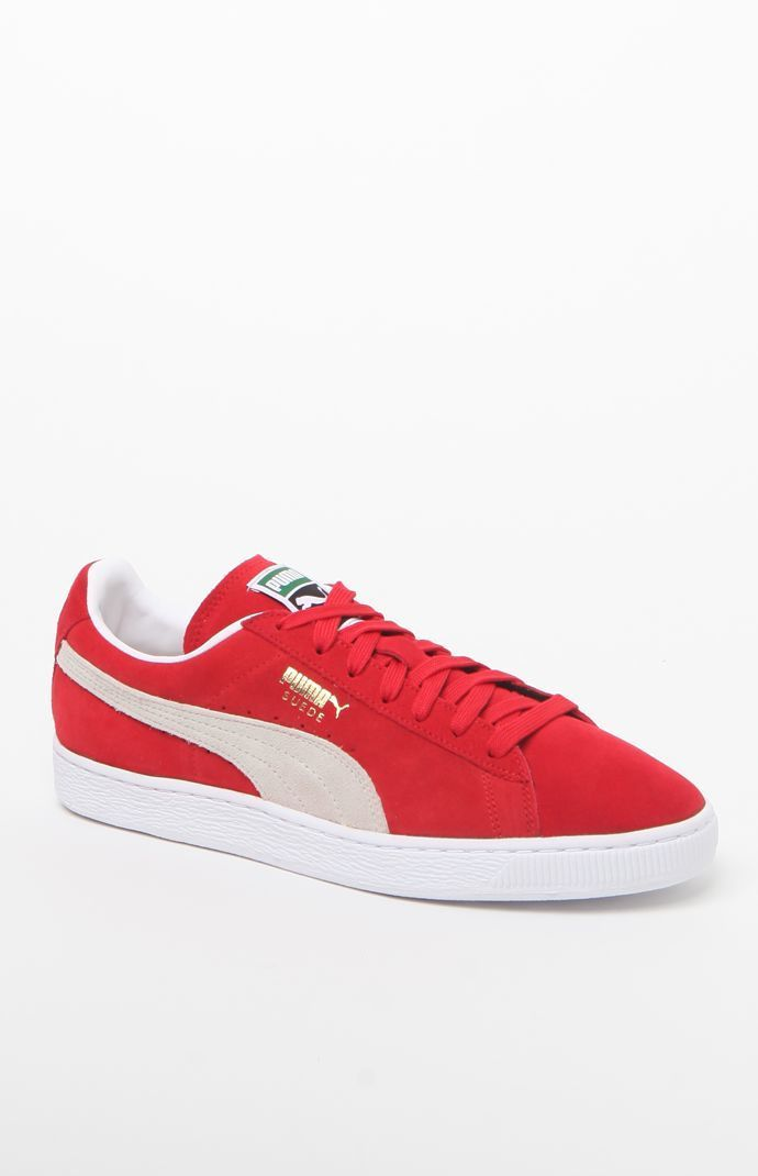 puma schuh suede classic red red red