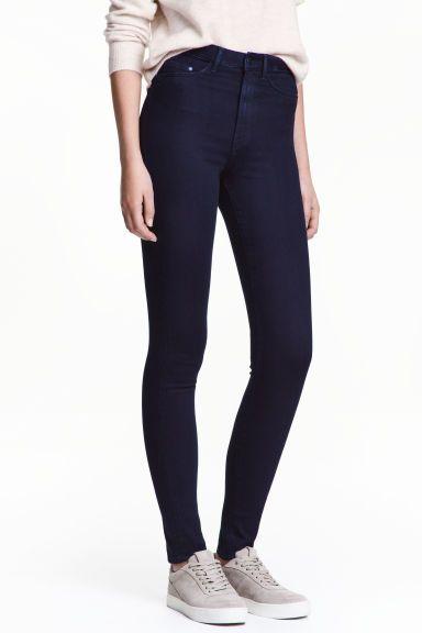 Jegginsy Super Skinny High - Niebieskoczarny - ONA | H&M PL 1