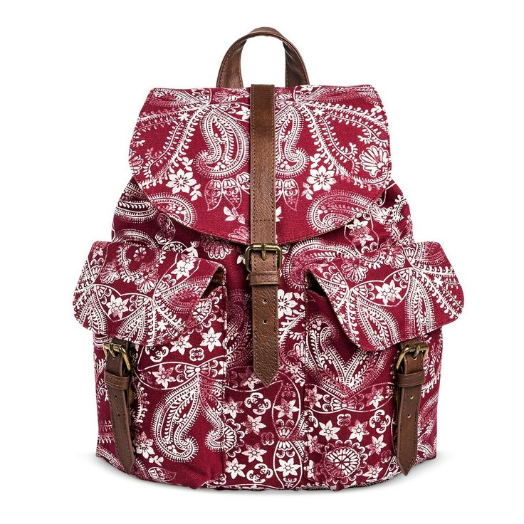 Women's Bandana Print Flap Backpack Red - Mossimo Supply Co.