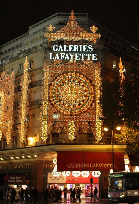 Paris Galeries Lafayette. This 100-year-old department store dedicates an entire floor to just gourmet food — over 300 varieties of cheese, 3,000 bottles of wine and a champagne counter.