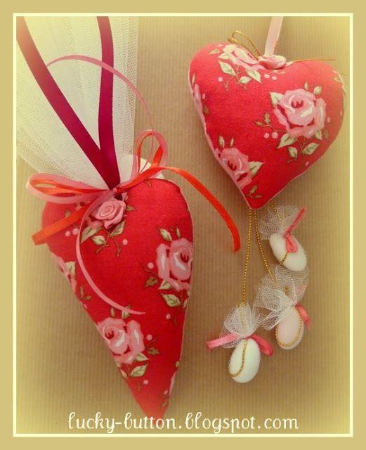 Το τυχερό κουμπί: Tilda's Xmas Hearts