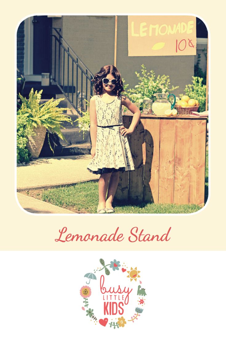 Fun, simple, easy sunny day kids activity -  Lemonade Stand