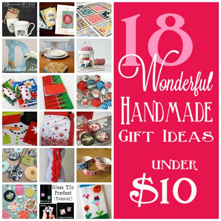 18 Wonderful Handmade Gift Ideas for under $10 GREAT IDEAS - SOME SEEN BEFORE, ALL SOURCED, I LIKE THE BOOK COVER THE BEST...