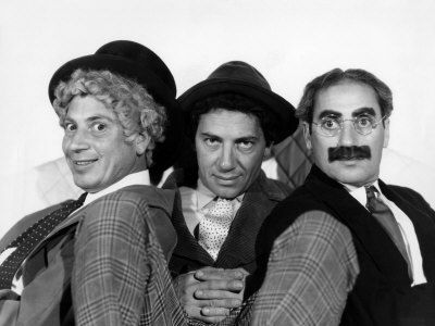 The Marx brothers.    Grew up watching their films.    Otis B. Driftwood: And eight pieces of French pasty.  Fiorello: With two hard-boiled eggs.  Otis B. Driftwood: And two hard-boiled eggs.  [Tomasso honks his horn]  Otis B. Driftwood: Make that three hard-boiled eggs.