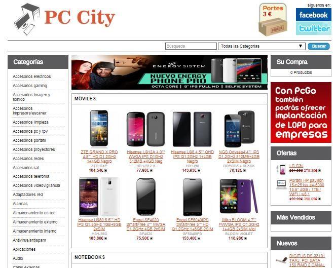 http://www.pc-city.es  Pc City, tienda de productos informáticos, telefonia libre y accesorios, Consolas, videojuegos y accesorios, diseño web, diseño grafico, impresión,comercio
