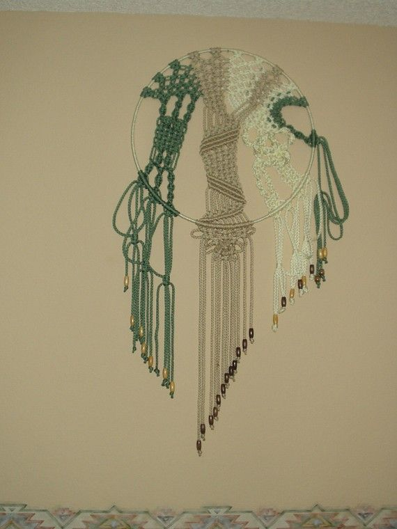 Macrame Wall Hanging Abstract In The Round Macrame