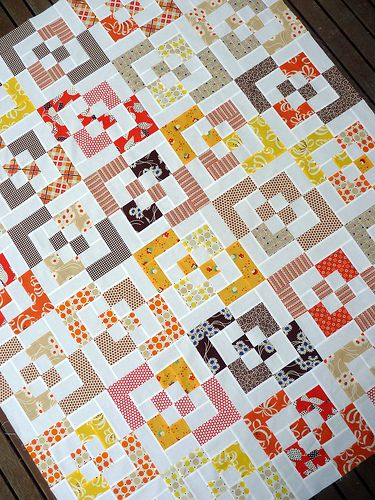 Red Pepper Quilts: KJR Quilt - A Block Jumble (could use a charm pack and jelly roll for this)