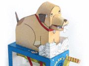 Max's Snack Attack Dog Automata Free Papercraft Download