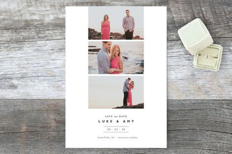 """""""Modern Film Strip"""" - Classical, Modern Save The Date Cards in noir by Alston Wise."""