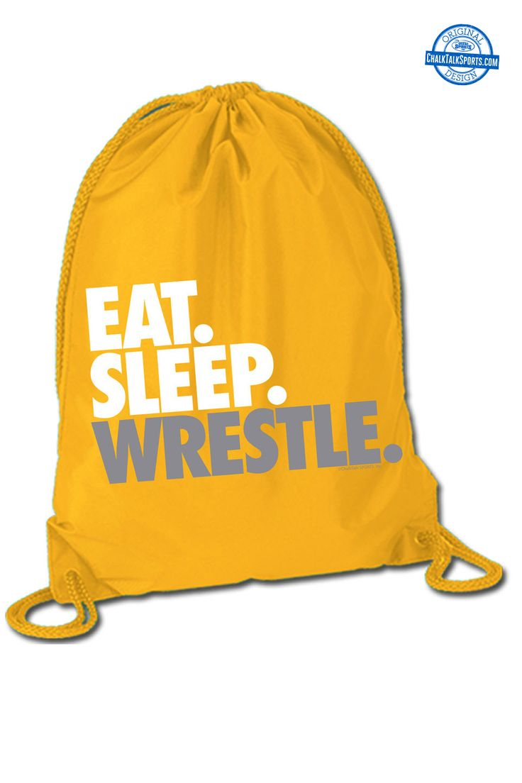 Eat. Sleep. Wrestle. Repeat! Tons of wrestling bags at ChalkTalkSPORTS.com!