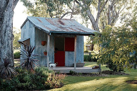 build a rustic shed | ... green, manicured lawn. The owners use the rustic shed as a guesthouse