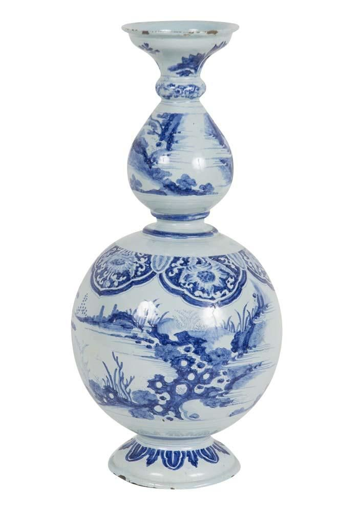 Superb A large French delft faience vase from Nevers in Northern France Second Quarter of the