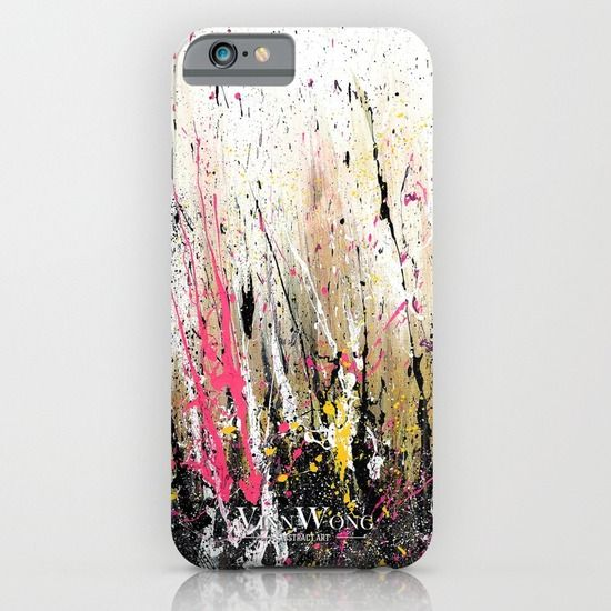 Dynamic, vibrant and colorful, pink and yellow, high quality abstract phone case design for iPhone 6, iPhone 5S/C, iPod Touch, Galaxy s6/s5/s4 | International Shipping | Full collection www.vinnwong.com | Click to Shop or Pin it For Later!