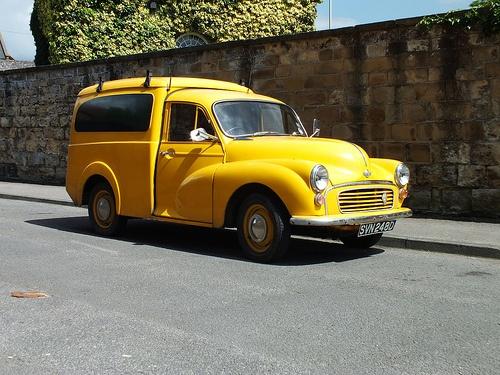 Number three - I also inherited Dad's 1970 yellow GPO Morris 1000 van