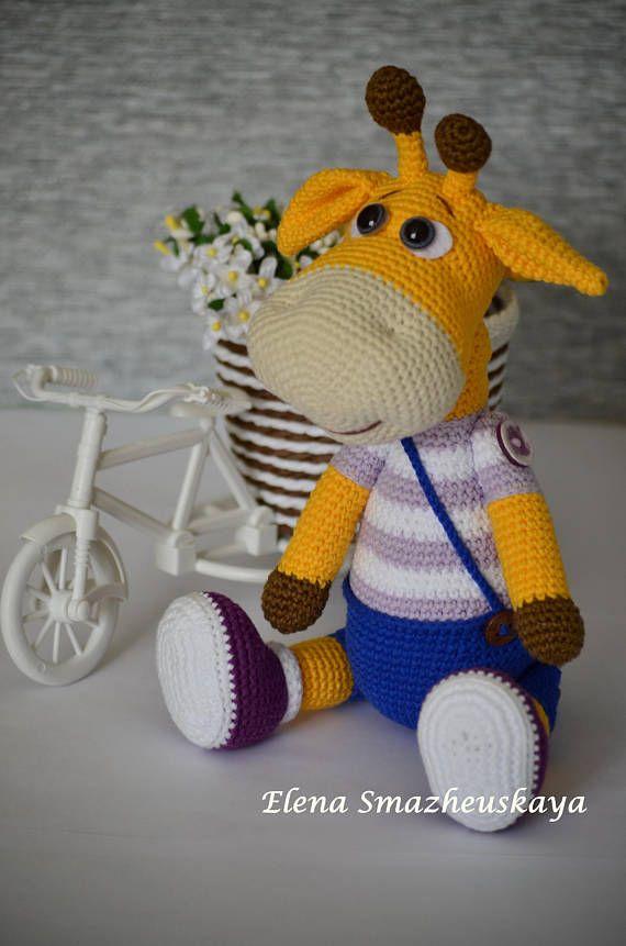 Crochet TOY Amigurumi Stuffed giraffe Eco toy Animal Gift toy