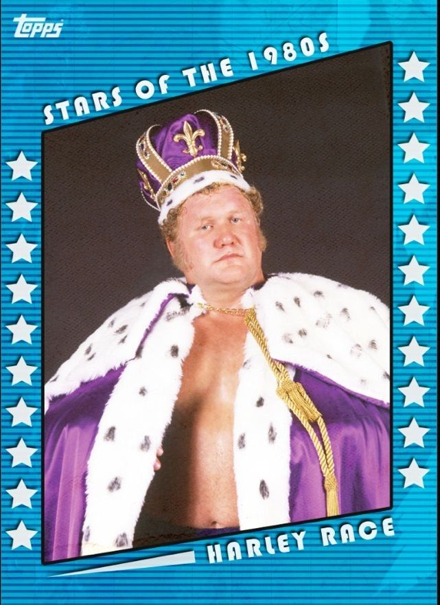Topps WWE Slam Stars of the 1980s The King Harley Race BLUE Digital Card