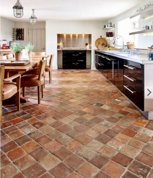 26 Colorful Backsplash Ideas Tiles And Otherwise In 2020 Country Kitchen Flooring Terracotta Tiles Kitchen Kitchen Flooring