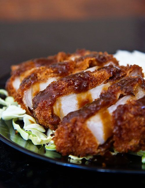 oh my lord....Miso Katsu (Japanese Breaded Pork Cutlet with Miso Sauce)!