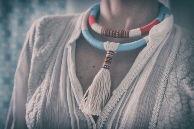 Ethnic boho statement necklace - KOLO