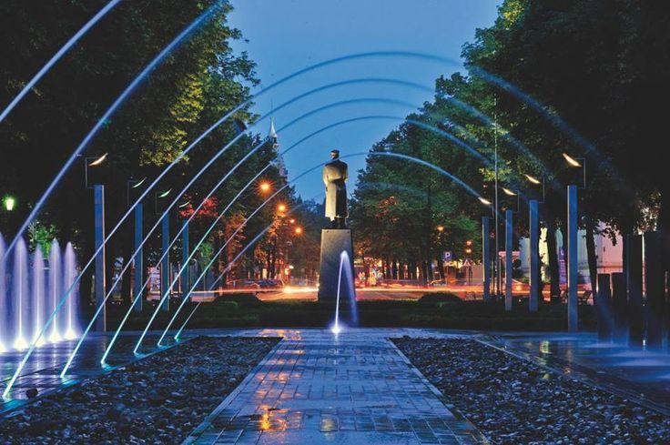 FONTANNA na Placu Piłsudskiego. (fot.T.Zakrzewski) #gliwice