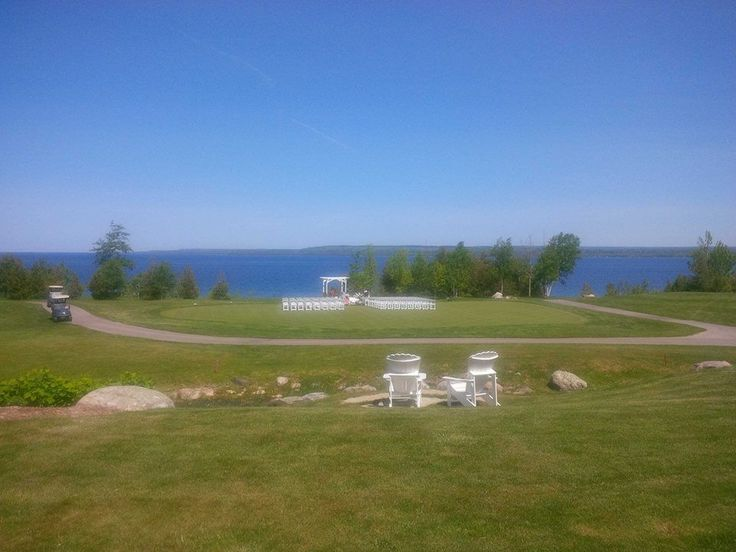 Ceremony Location overlooking the Lake and Golf Grounds - Stunning....