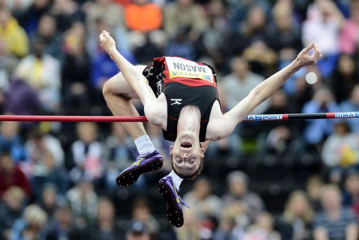 El saltador canadiense Michael Mason, durante una prueba de la Liga Diamante disputada en Londres este fin de semana.
