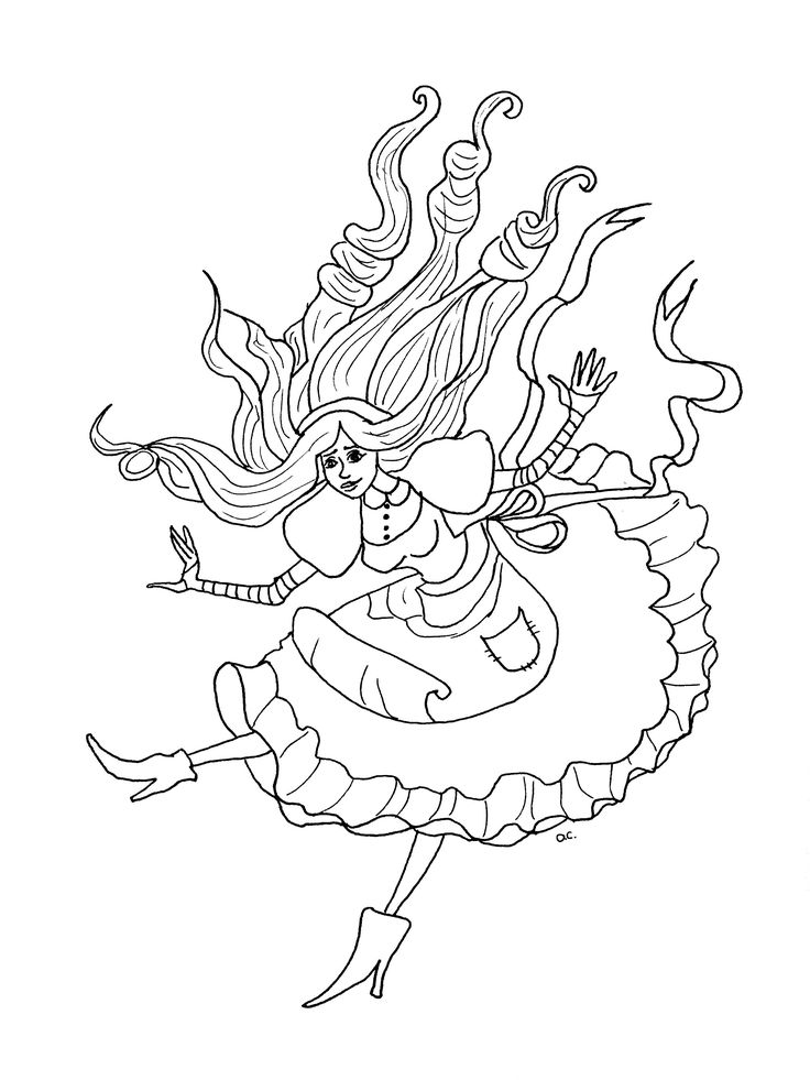 93 best images about Alice In Wonderland Adult Coloring