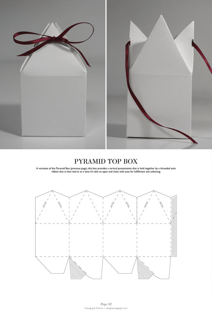 Pyramid Top Box - Packaging & Dielines: The Designer's Book of Packaging Dielines
