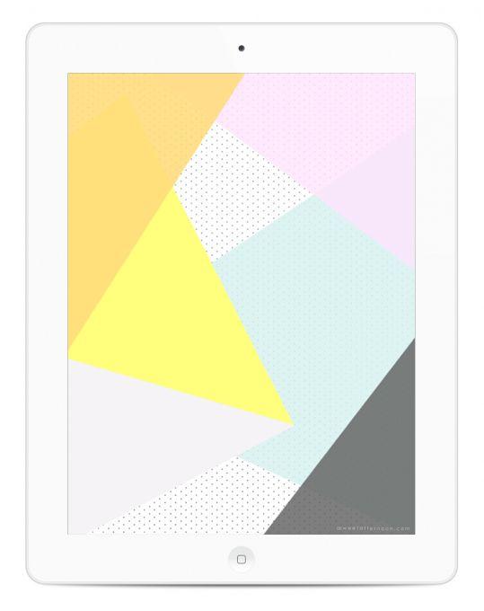 Geometric Triangles Desktop + iPad Wallpaper (Free Download)