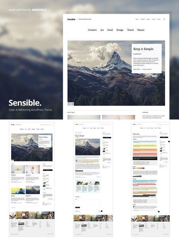Mejores 93 imágenes de WordPress Blog Themes en Pinterest | Website ...