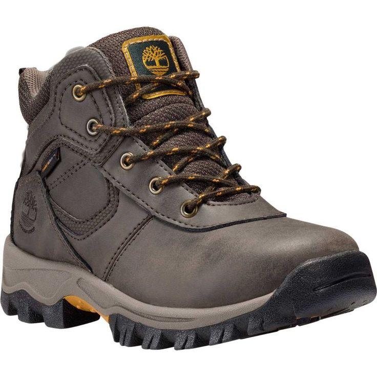 Timberland Kids' Grade School Mt. Maddsen Waterproof Hiking Boots, Kids Unisex, Size: 12.5K, Brown