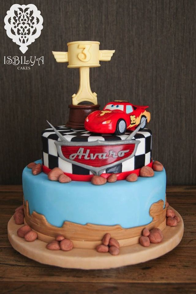 Cars 3rd Birthday Cake made by Isbilya Cakes