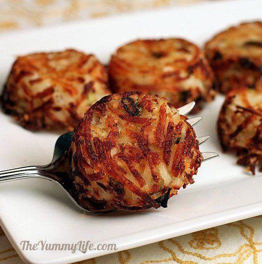 Galettes de pommes de terre au parmesan