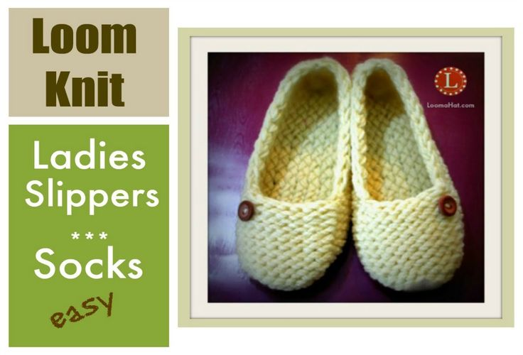 LOOM KNITTING Slippers Socks Project Step by Step for Beginners