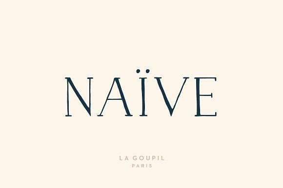 Looks a little french to me! How cute! Naive Font Pack by La Goupil Paris on @creativemarket