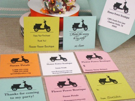 Printable  EDITABLE  SCOOTER  Labels Business by WhiskerGraphics, $10.00