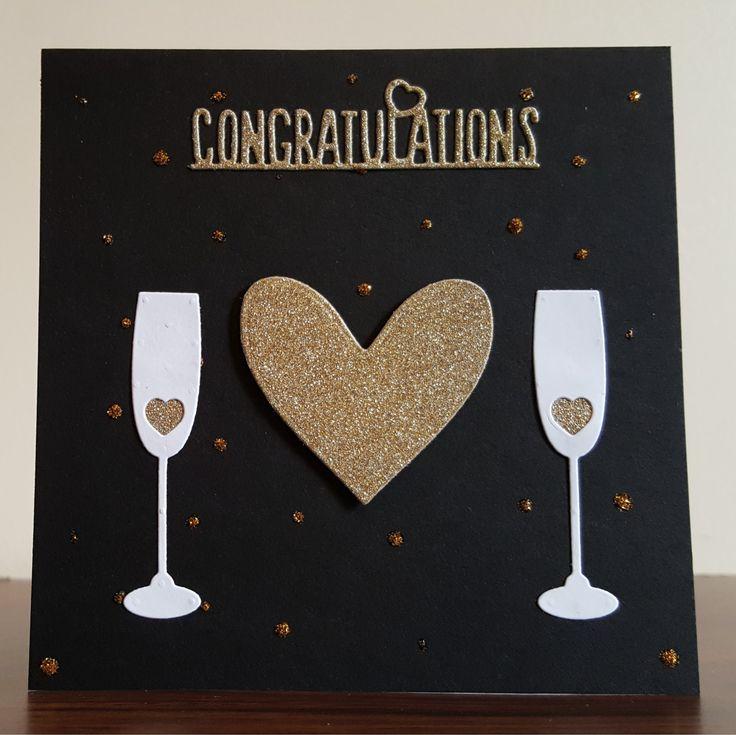 Gold Glitter Congratulations Celebration Card by CreativeDuz on Etsy