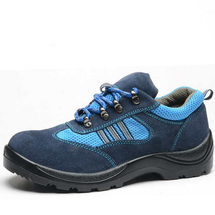 plus size men breathable dress shoe steel toe caps work safety summer shoes plate sole outdoors tooling low boots leather zapato