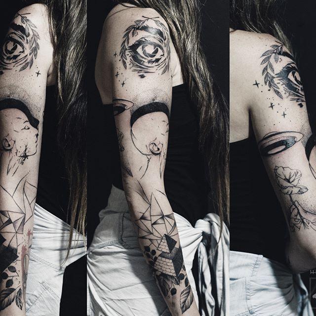 Agendamentos: hafaell.me@gmail.com / fb.com/hafaelltattoo  Rio de Janeiro - RJ - Brasil    Fechamento de braço. #tattoo #tatuagem #darkartists #ink #blackwork #tatuagembrasil #black #tattooartist #blackworkerssubmission #btattooing #melhorestatuagensrio #hafaelltatoo #armtattoo #dotwork