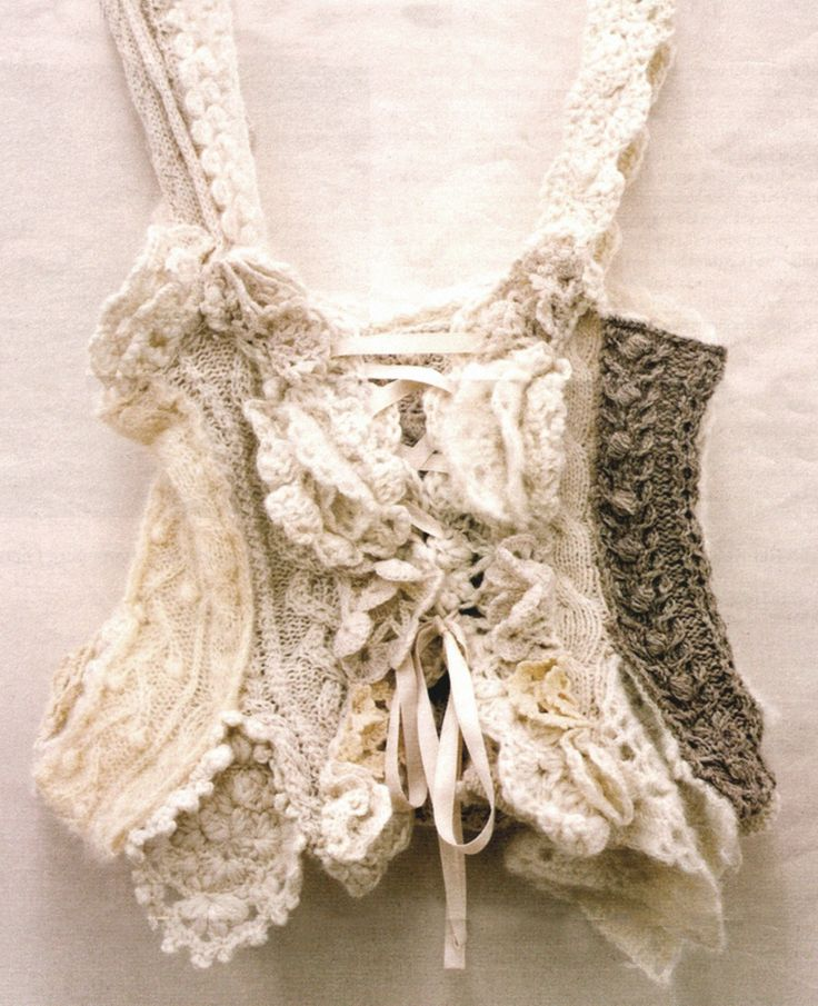 knitted corset, just really pretty