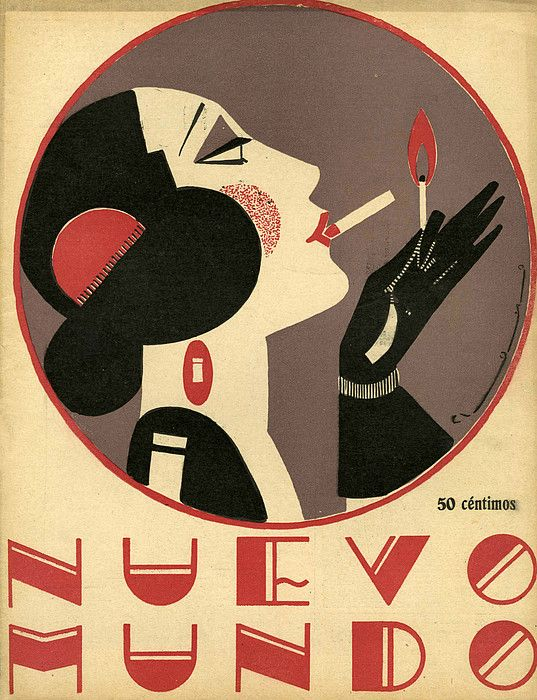 Nuevo Mundo 1923 1920s Spain Cc Drawing The Advertising Archives.