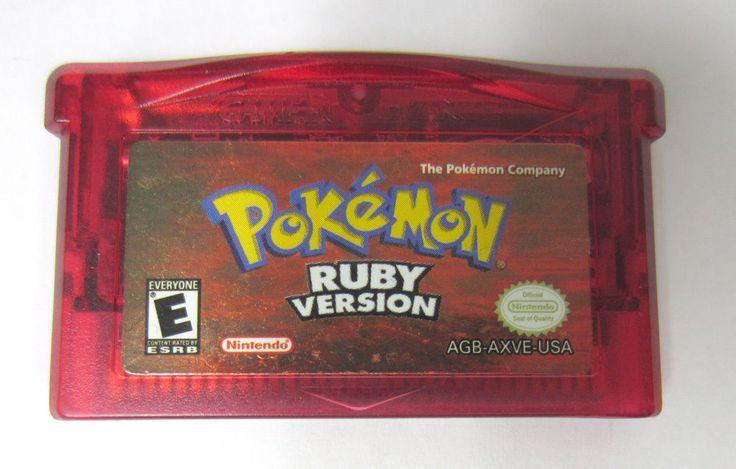 Pokemon Ruby Version (GBA Nintendo Game Boy Advance) Video Game Cartridge