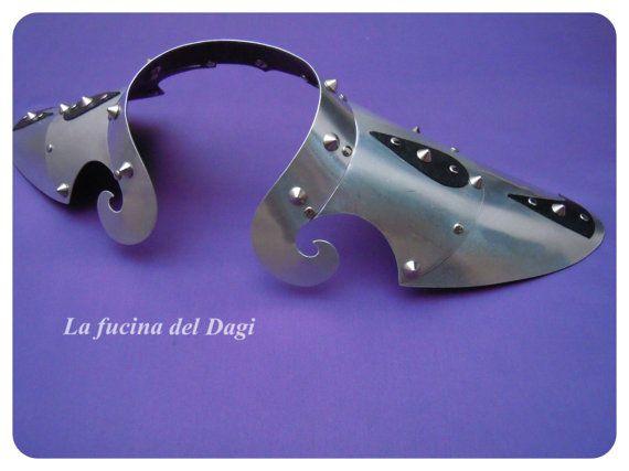 Spalline fantasy in metallo  shoulderepaulette di LaFucinaDelDagi