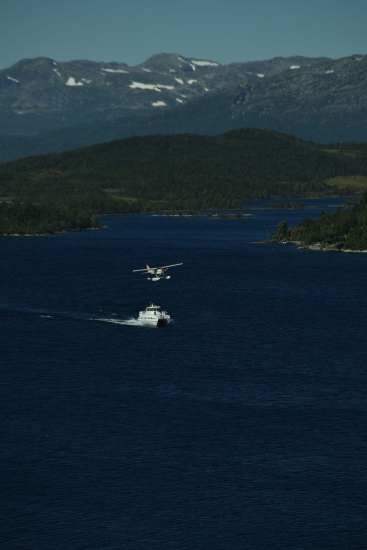 "Passenger ferry""Fjellvaaken""  at Lake Mosvatn."