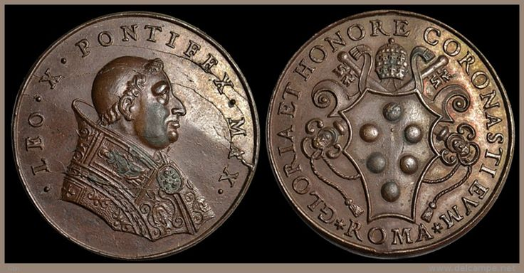 Papal States - Rome - Pope Leo X (Giovanni de 'Medici,(1475-1521)   c. 1513-1521, Restitution medal